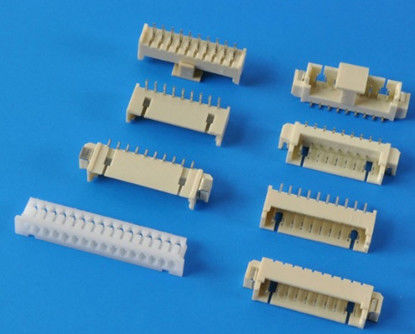 Tin Plated PCB SMT Header Connector Right Angle Type 1.25mm Pitch PA66 Housing